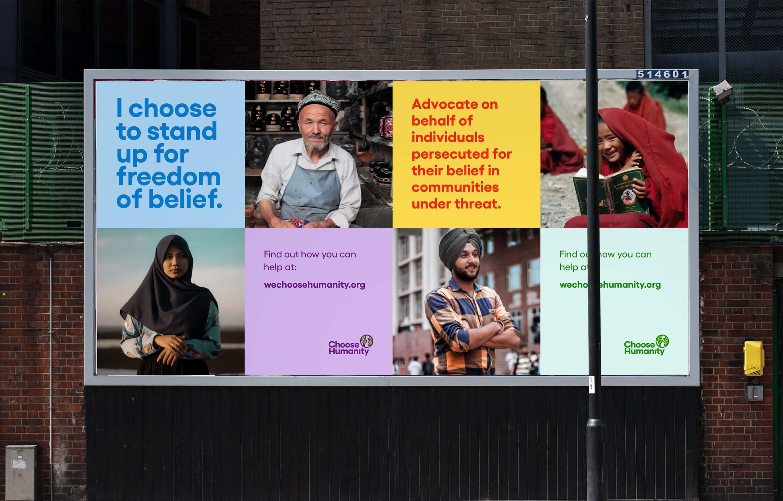 Choose Humanity Print Campaign
