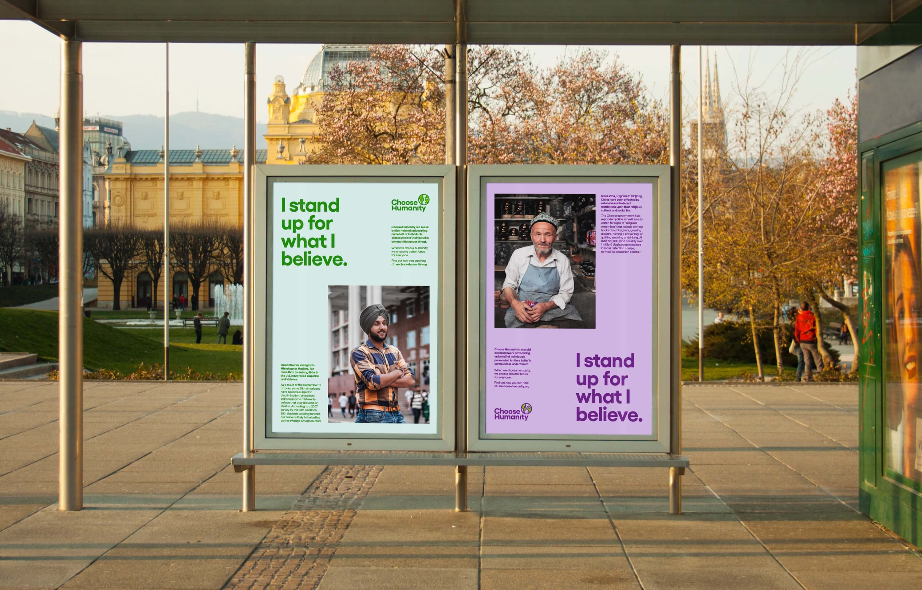 Choose Humanity Print Campaign - Bus Shelter Ads