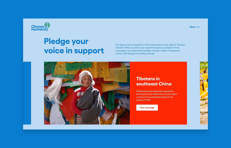 Choose Humanity Desktop Campaign Design